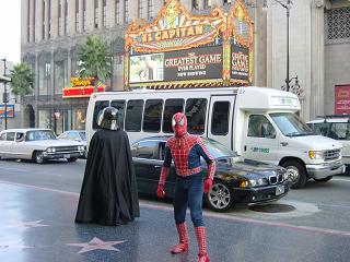 スパイダーマンとダースベイター