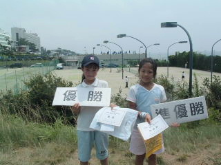 Jr.8才以下女子の大会で優勝